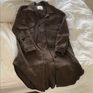Mango Plaid Shacket - Shirt Jacket